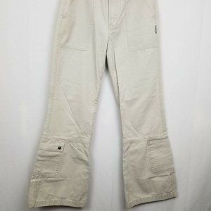 Silver Jeans Tan Khaki Flare Cargo Pants Women's S